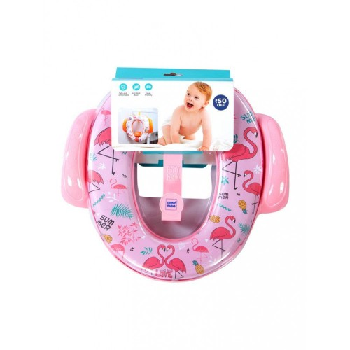 Mee Mee Cushioned Non-Slip Potty Seat with Easy Grip Handles Pee Shield(Pink)
