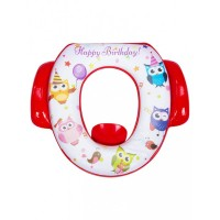 Mee Mee Cushioned Non-Slip Potty Seat with Easy Grip Handles Pee Shield(White)