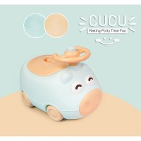 R for Rabbit Cucu Potty Training Seat- Cute & Comfy Baby Potty Seat (Green)