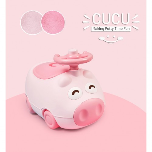R for Rabbit Cucu Potty Training Seat- Cute & Comfy Baby Potty Seat (pink)
