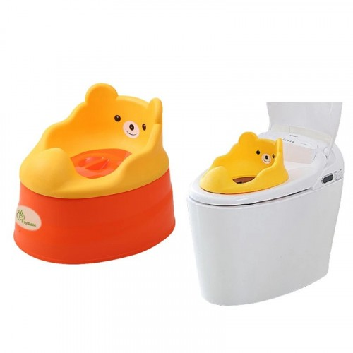 R for Rabbit Tiny Tots – Adaptable Potty Training Seat (Orange Red)