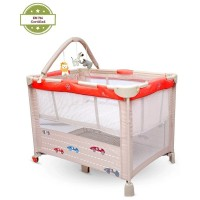 R for Rabbit Hide and Seek – Smart Folding Baby Bed cum Cot (Red Beige)
