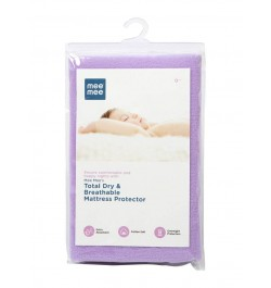 Mee Mee Total Dry & Breathable Mattress Protector (Medium, Purple)