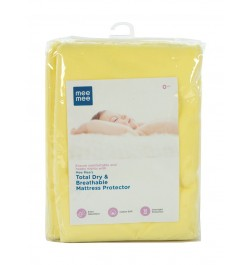 Mee Mee Total Dry & Breathable Mattress Protector (Medium, Yellow)
