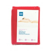 Mee Mee Total Dry & Breathable Mattress Protector (Small, Red)