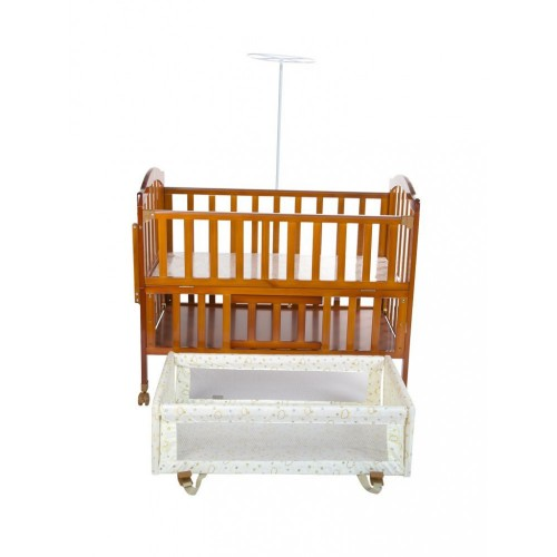 Mee Mee Wooden Baby Cot with Swinging Cradle