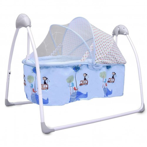R for Rabbit Lullabies - The Auto Swing Baby Cradle (Blue)