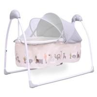 R for Rabbit Lullabies - The Auto Swing Baby Cradle (Cream)
