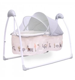 R for Rabbit Lullabies - The Auto Swing Baby Cradle (Cream)