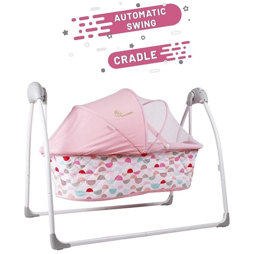 R for Rabbit Lullabies - The Auto Swing Baby Cradle (Pink)
