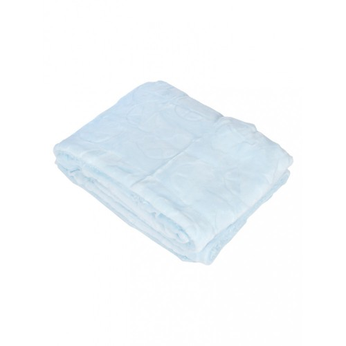 Mee Mee Double Layer Soft Baby Blanket with Embossed Printing, Blue
