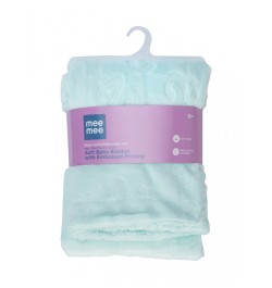 Mee Mee Double Layer Soft Baby Blanket with Embossed Printing, Green
