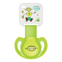 Buddsbuddy Premium Pacifier with Ribbon & Clip, Green