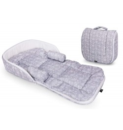 R for Rabbit Baby Nest Bedding Portable and Travel Friendly Toddler Bed (Grey)