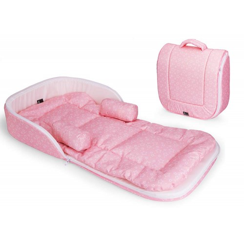 R for Rabbit Baby Nest Bedding Portable and Travel Friendly Toddler Bed (Pink)