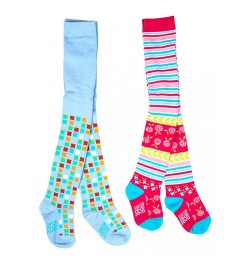 Mee Mee Soft Cotton Baby Stockings (Blue & Stripes) (0-6 m)