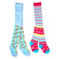 Mee Mee Soft Cotton Baby Stockings (Blue & Stripes) (1 y)