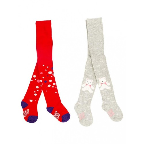 Mee Mee Soft Cotton Baby Stockings (Red & Gray) (0-6 m)