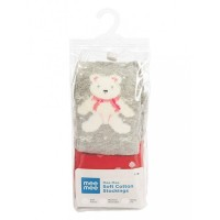 Mee Mee Soft Cotton Baby Stockings (Red & Gray) (1 y)
