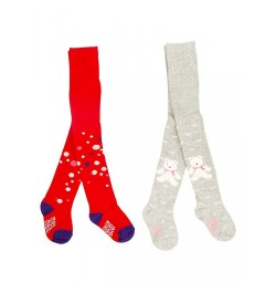 Mee Mee Soft Cotton Baby Stockings (Red & Gray) (2 y)