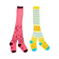 Mee Mee Soft Cotton Baby Stockings (Stripes & Pink) (2 y)