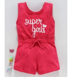 Doreme Sleeveless Jumpsuit Super Girls Print - Pink