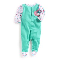 Mee Mee Full Sleeve Footed Romper (Light Green)