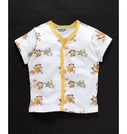 Baby Clothes for new born baby online in india - White & Yellow