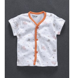baby clothes for newborn kids online in india from totscart - White Orange 100% cotten