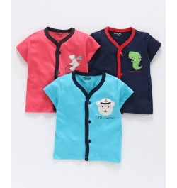 Buy kids (Baby) clothes online in india for newborn babies ( Boy & Girl)  Red Navy & Sky Blue