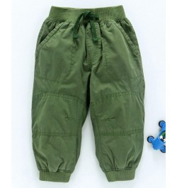 Cucumber Full Length Jogger Pants With Drawstring - Green
