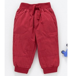 Cucumber Full Length Jogger Pants With Drawstring - Red