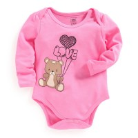 Mee Mee Full Sleeve Bodysuit (Pink)