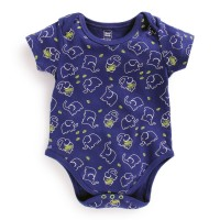 Mee Mee Half Sleeve Bodysuit (Navy Blue All Over Print)