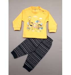 Zero Full Sleeves Tee with Lounge Pant - Yellow