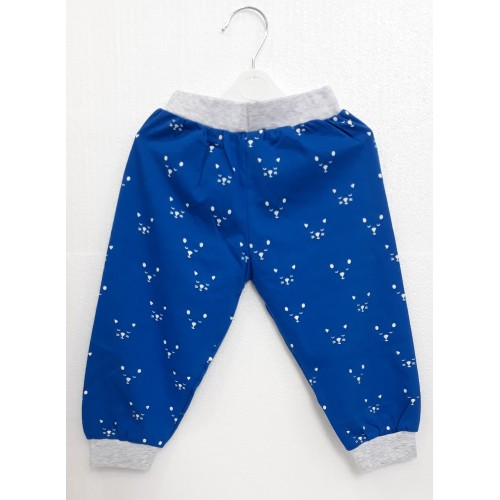 Krunchy Pajama / Legging with Rib for Baby and Kids - Blue