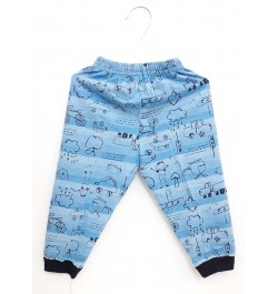 Krunchy Pajama / Legging with Rib for Baby and Kids - Sky Blue