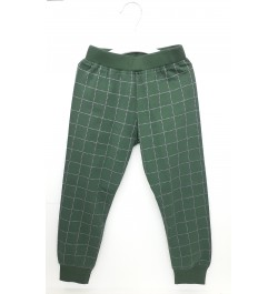 Pajama / Legging with Rib for Baby and Kids - Green