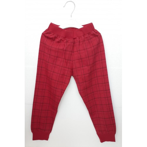 Pajama / Legging with Rib for Baby and Kids - Maroon