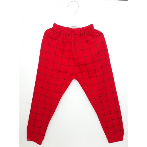 Pajama / Legging with Rib for Baby and Kids - Red