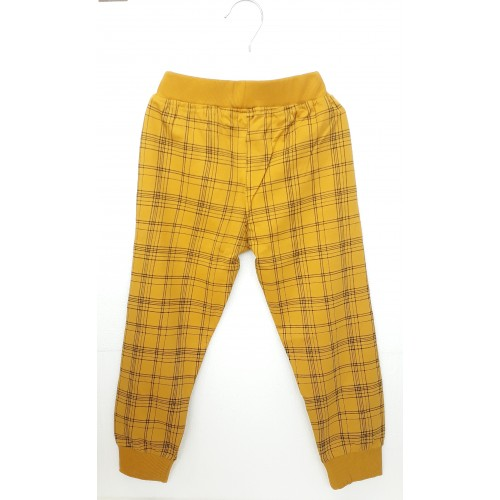 Pajama / Legging with Rib for Baby and Kids - Yellow