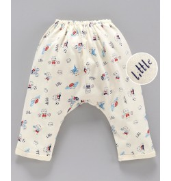 Pink Rabbit Diaper Legging Animal Print - Yellow