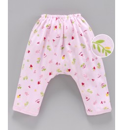 Buy Pink Rabbit Diaper Legging Floral Print - Pink Online in India