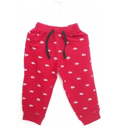 Pink Rabbit Pajama / Legging with Rib for Baby and Kids - Red