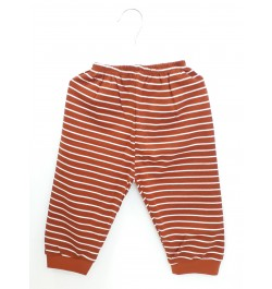 Zero Pajama / Legging with Rib for Baby and Kids - Brown