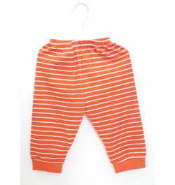 Zero Pajama / Legging with Rib for Baby and Kids - Orange