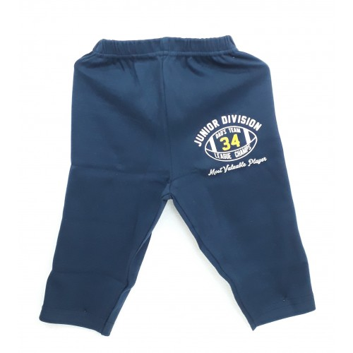 Zero Pajama / Legging with Rib for Baby and Kids - Sports Blue