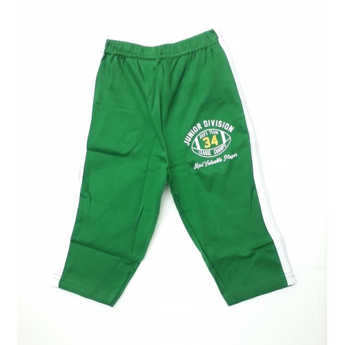 Zero Pajama / Legging with Rib for Baby and Kids - Sports Green