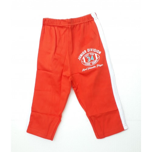 Zero Pajama / Legging with Rib for Baby and Kids - Sports Orange