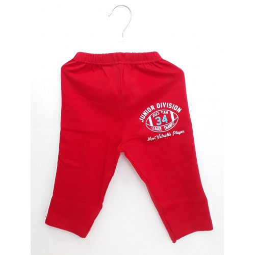 Zero Pajama / Legging with Rib for Baby and Kids - Sports Red